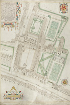 All Souls College Aerial View Drawing