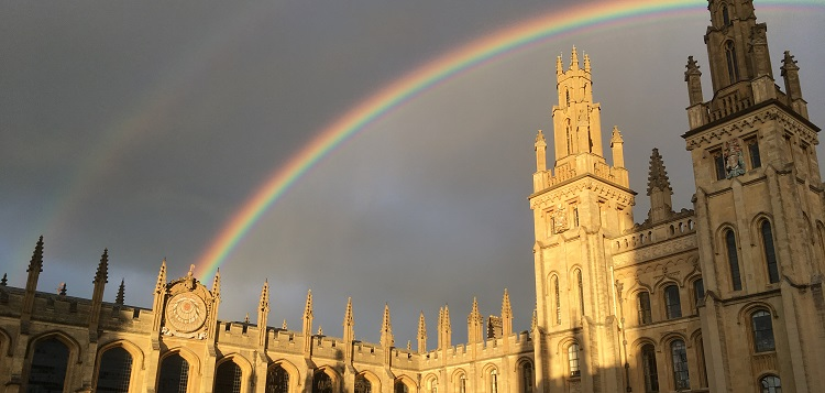 A rainbow over the Great Quad