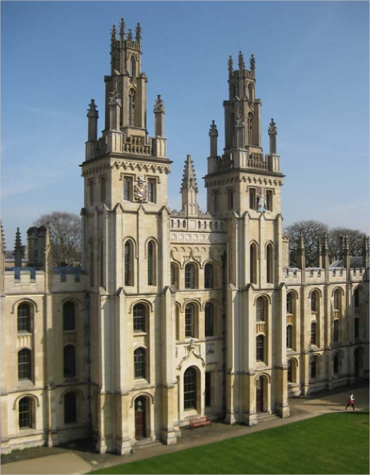 View of the eastern side of the Great Quad